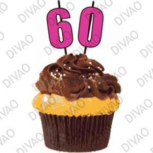 birthday cupcake 60 ans