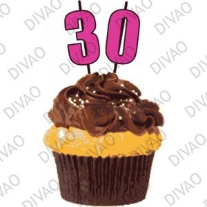 birthday cupcake 30 ans - Gateau Anniversaire 30 Ans