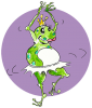 Frog danseuse 2,  de happy tadpole