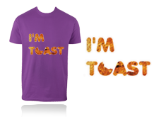 Tee-shirt - I AM TOAST