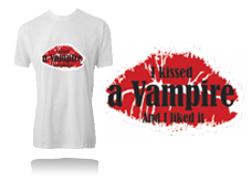 Tee-shirt KISSED A VAMPIRE