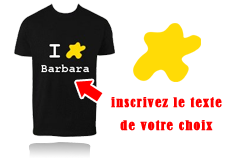 Tee-shirt I LOVE jaune