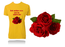 Tee-shirt BOUQUET DE ROSE