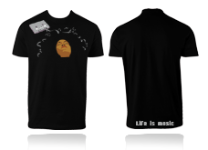 Tee-shirt LIFE IS MUSIC